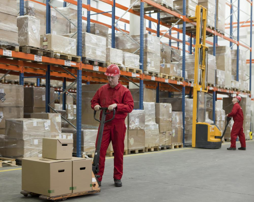 Warehouses store a variety of retail goods, as it's common for larger retailers to own their own warehouses.