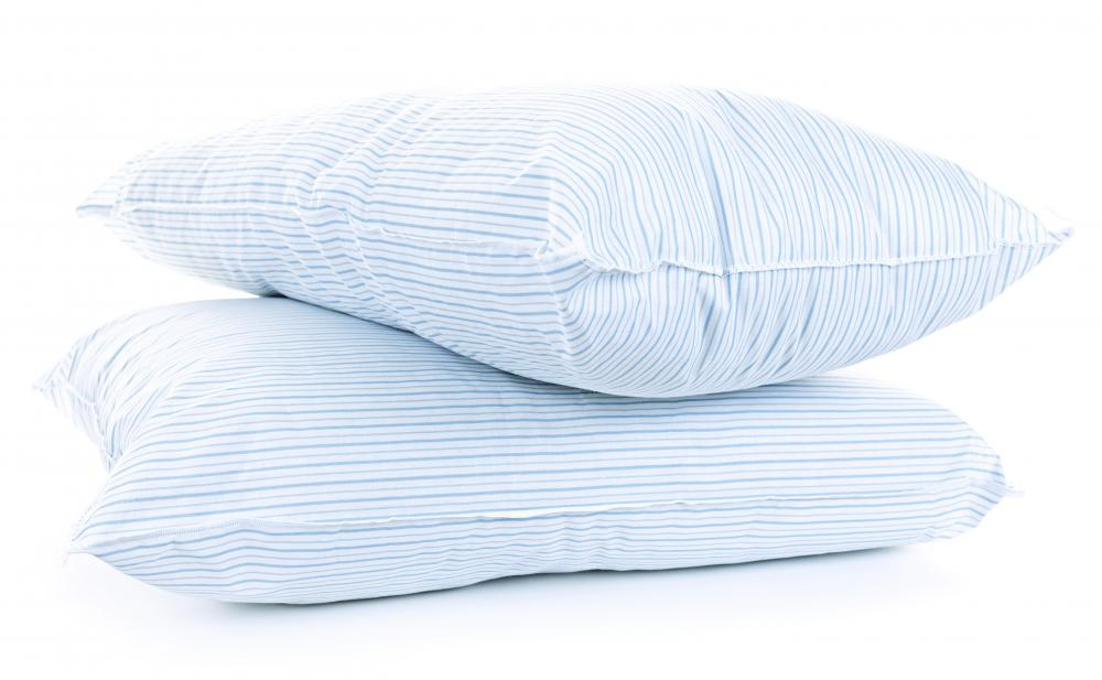 Standard bed pillows are about 20 inches by 26 inches.