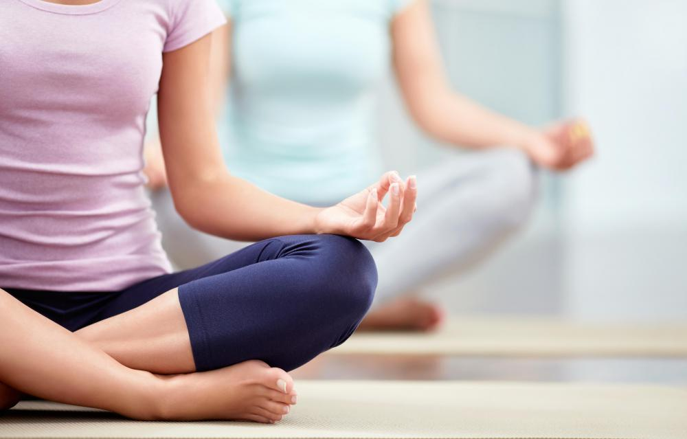Breathing and meditation are an important part of yoga practices.