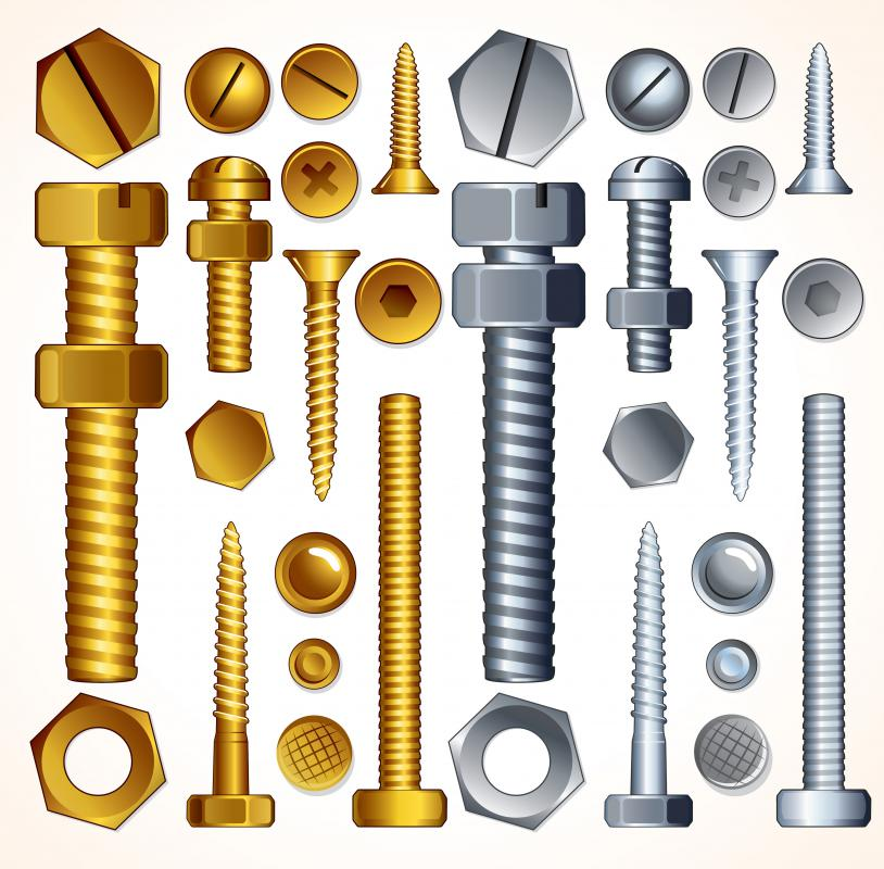 Various nuts, bolts and screws.