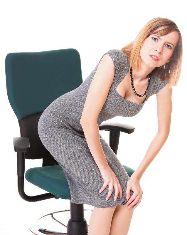 Office chairs without proper lumbar support can cause back pain.