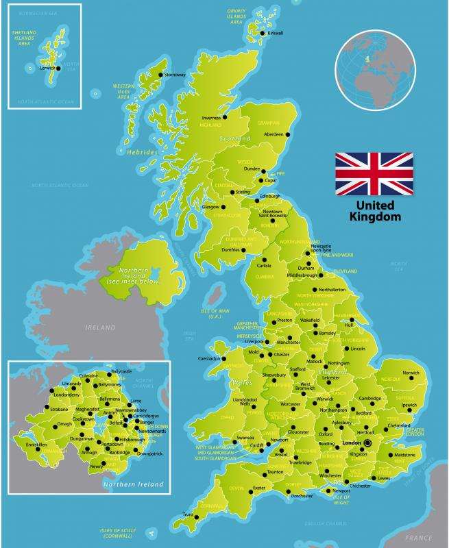 The United Kingdom is comprised of England, Scotland and North-Eastern Ireland.