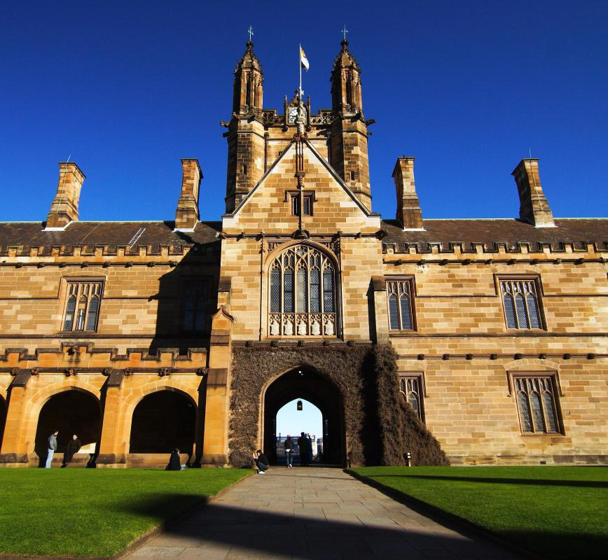 Australia's University of Sydney, with its unique architecture, was built in 1850.