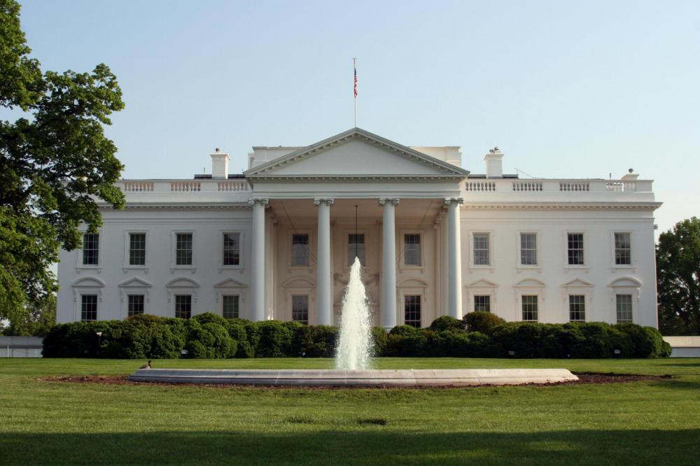The White House, home of the president of the United States, head of the executive branch.