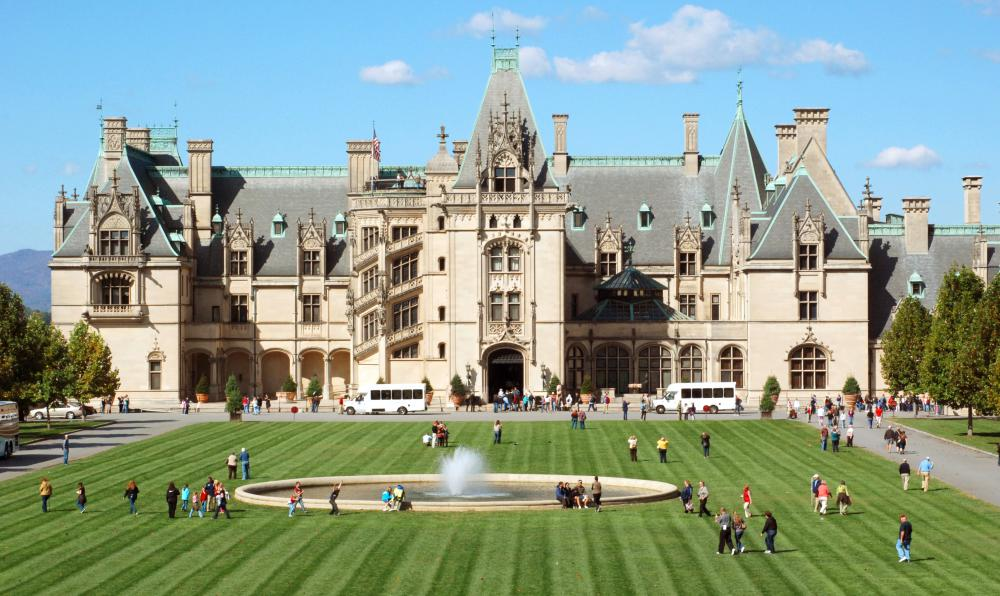 The Vanderbilt family built their expansive estate with the wealth they earned developing rail and shipping networks.