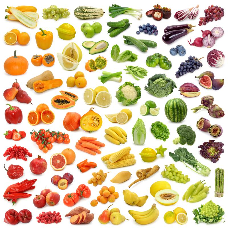 Most fruits and vegetables have a low glycemic index.