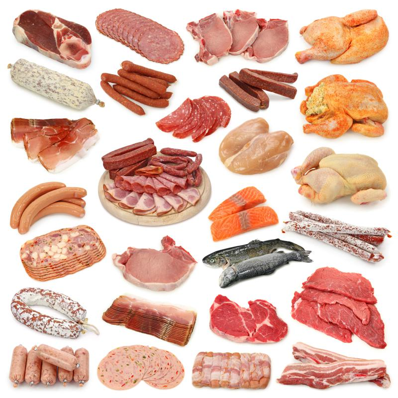 Various types of meat.