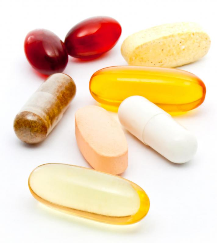 Various types of food supplements.