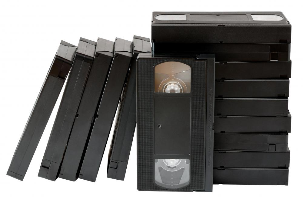 VCRs play cassettes known as VHS tapes.