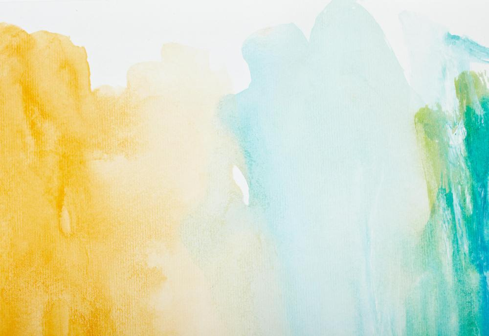 Watercolors are a common form of visual art.