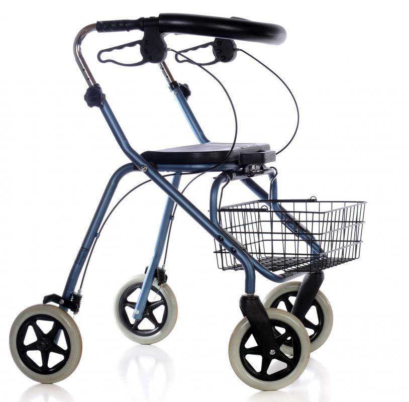 Some sufferers of paraparesis may require an assistive device, such as a walker.