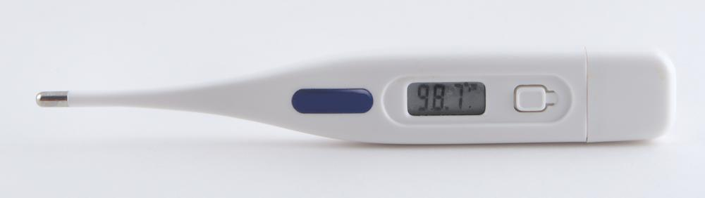 Digital thermometers may be used for checking body temperature.