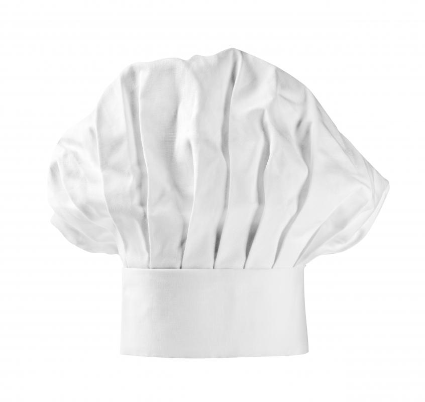 A toque blanche is also known as a chef's hat.