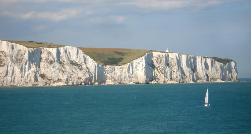 The White Cliffs of Dover are made up of limestone.