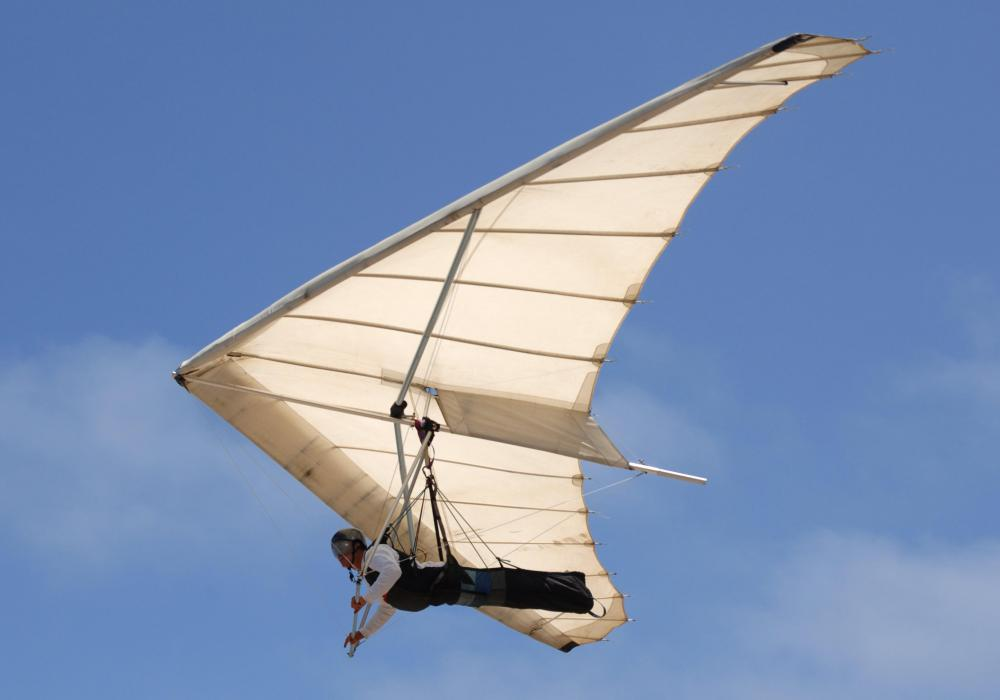 Ripstop fabric's durable properties make it ideal for hang glider and parasail wings.