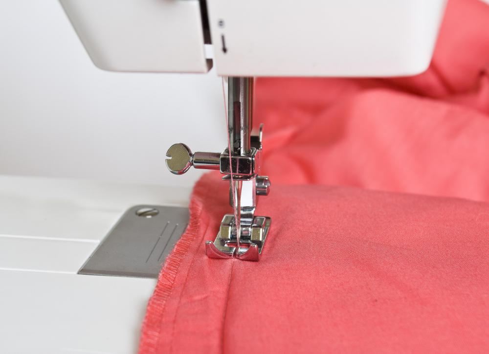 Lockstitch sewing machines are most commonly found in the home and work by interlocking two threads from two bobbins for a sturdier stitch.