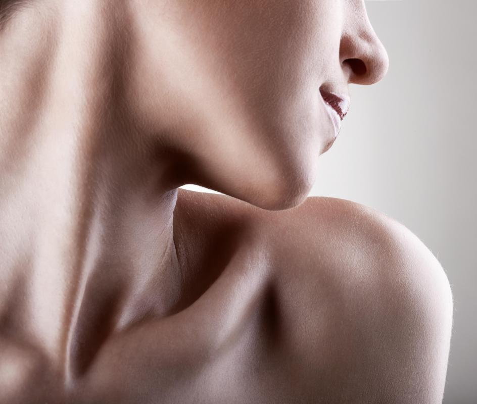 The clavicle -- also known as the collar bone -- connects the shoulder to the upper torso.