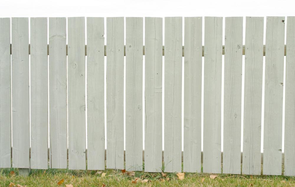 Wooden garden fences are not typically very strong.