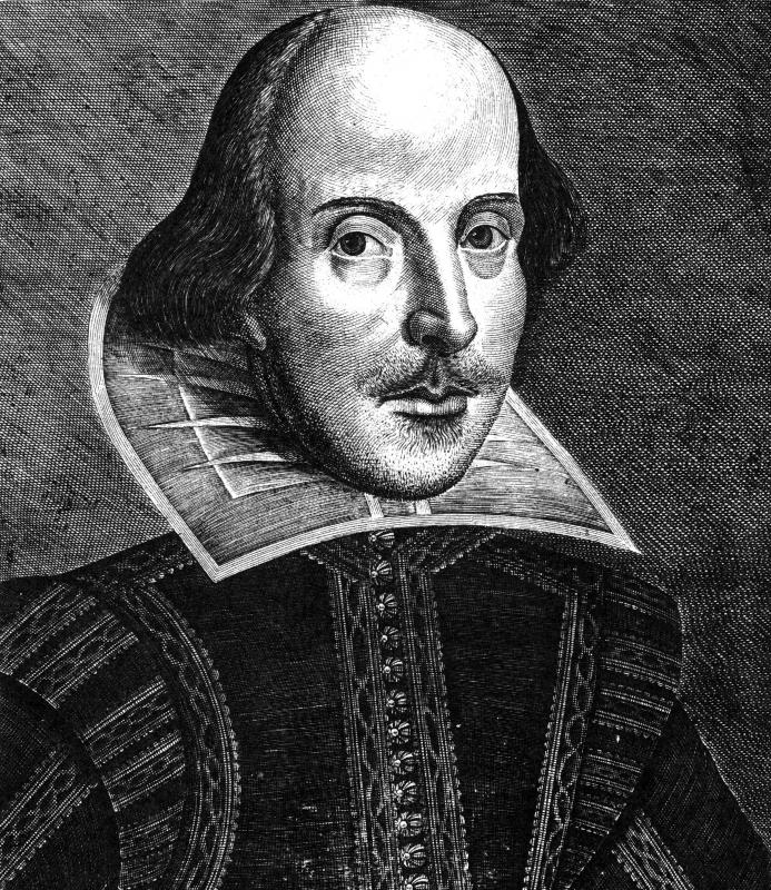 English literature includes works written by William Shakespeare.
