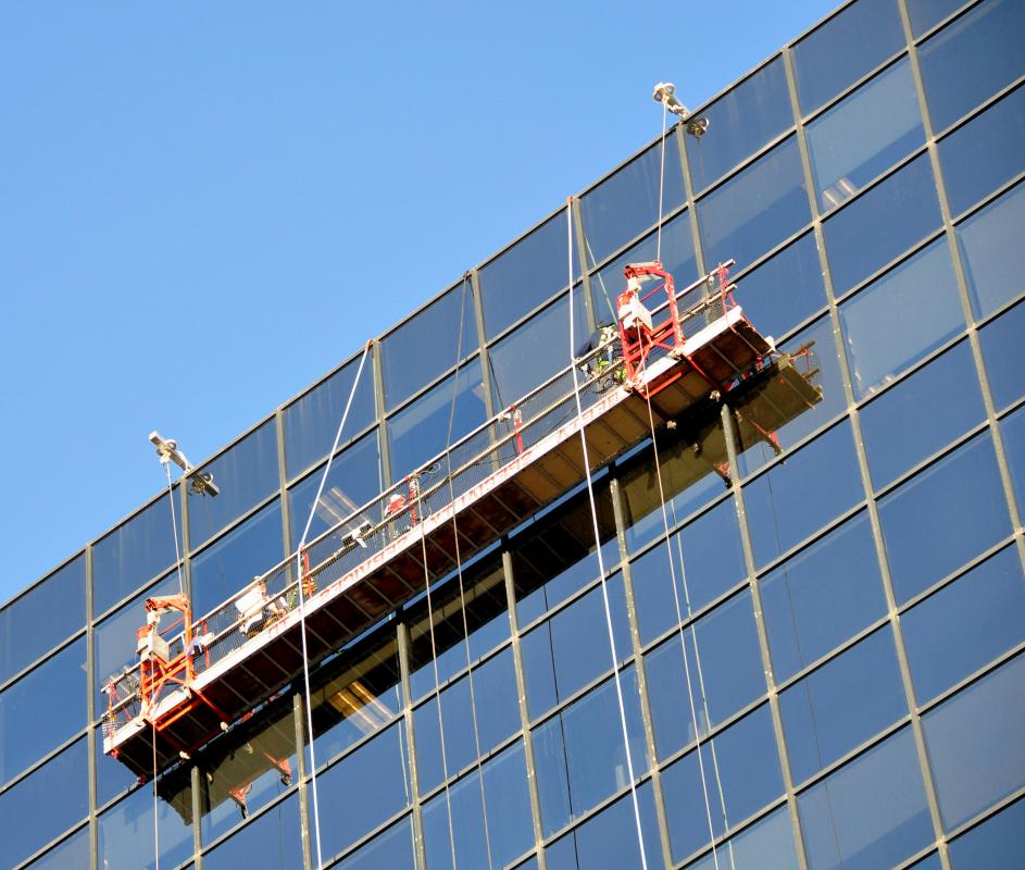 Some window washing businesses focus on commercial clients.