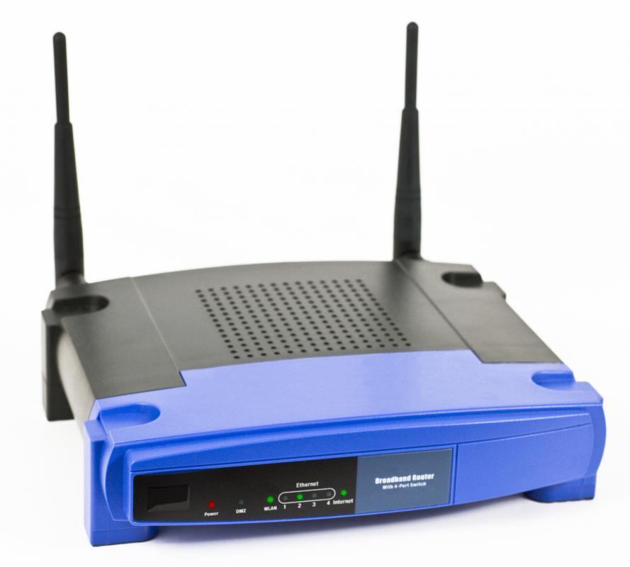 A wireless router.