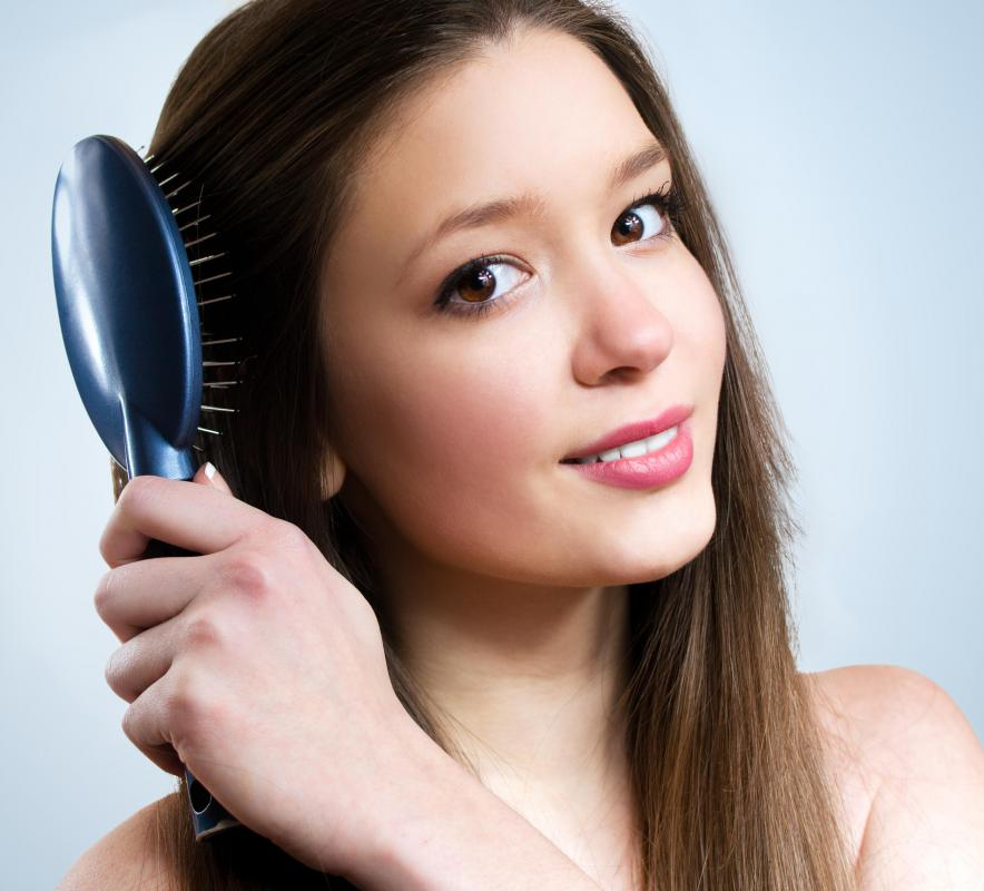 Excessive brushing can damage hair.
