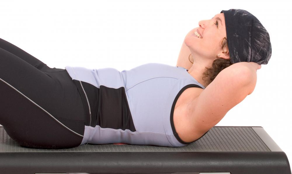 Crunches require lifting the head, neck, and shoulders with just the abdominal muscles.