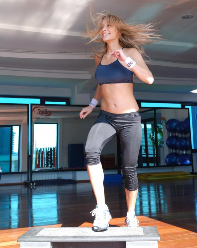 Side steps, forward steps and back steps are the most basic moves in aerobics.
