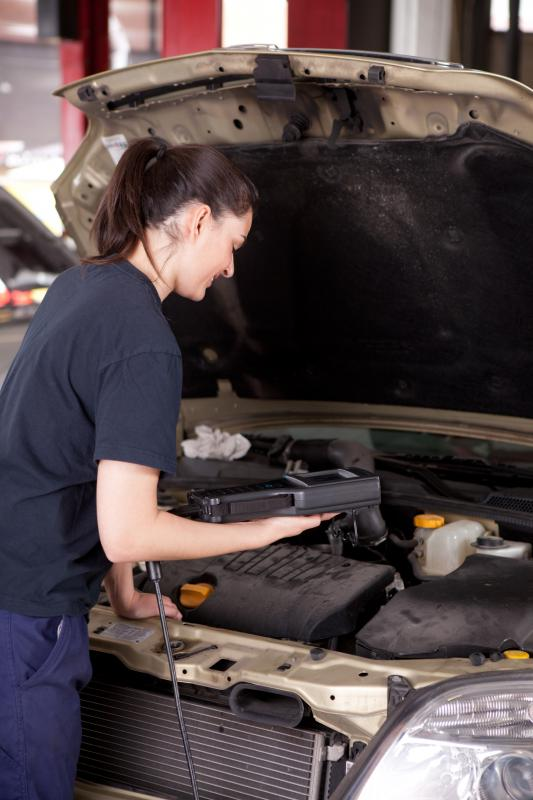 A mechanic may work for a shop that does tune ups and general maintenance.