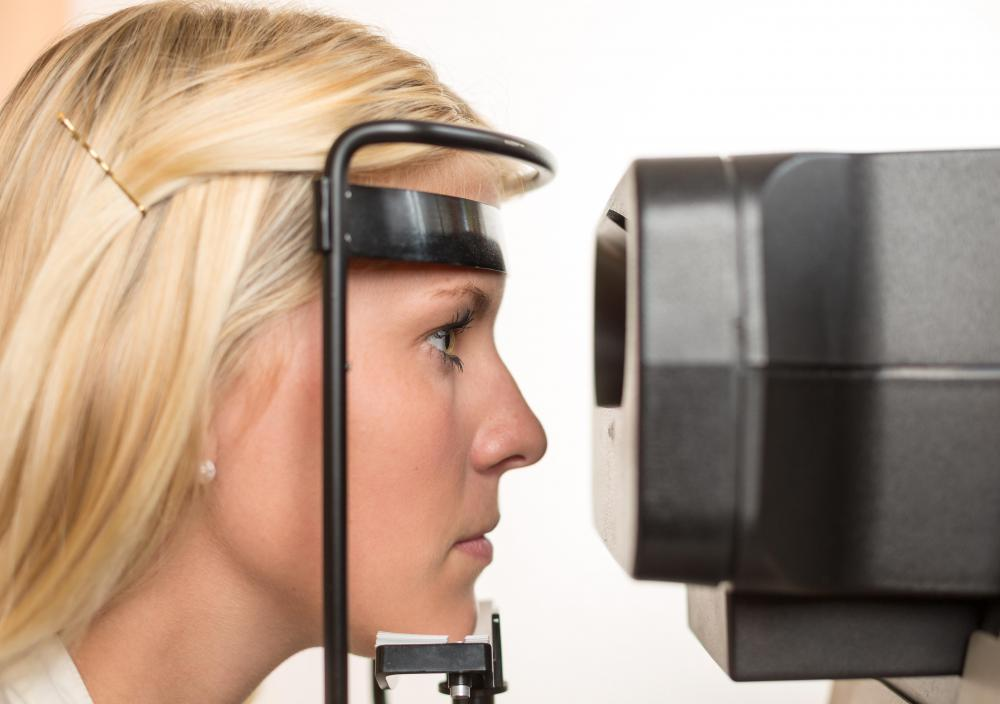 Optometrists conduct eye exams.