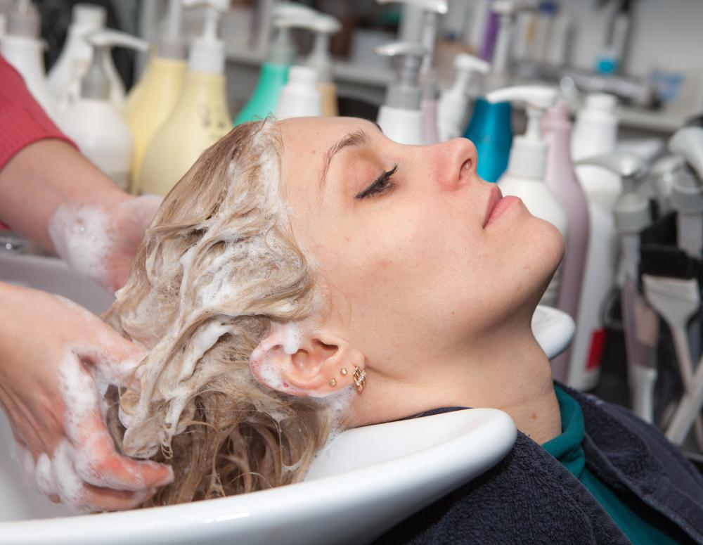 Silk protein is found in more expensive lines of volumizing shampoo.