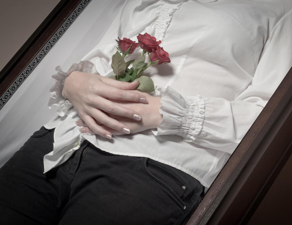 An embalmer is responsible for dressing the deceased for wake and funeral services.