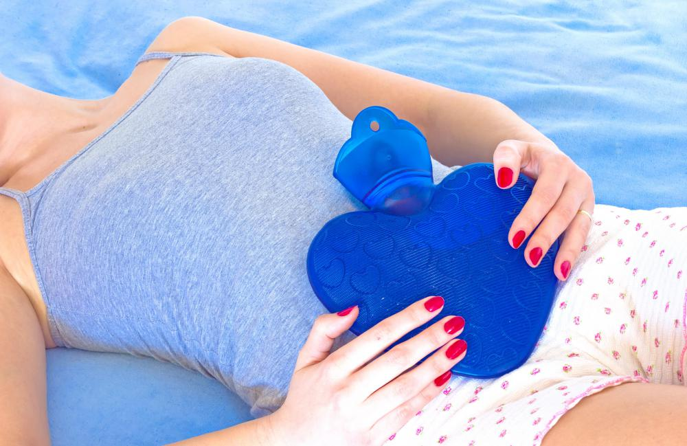 An ice pack may be used to help relieve menstrual cramping.