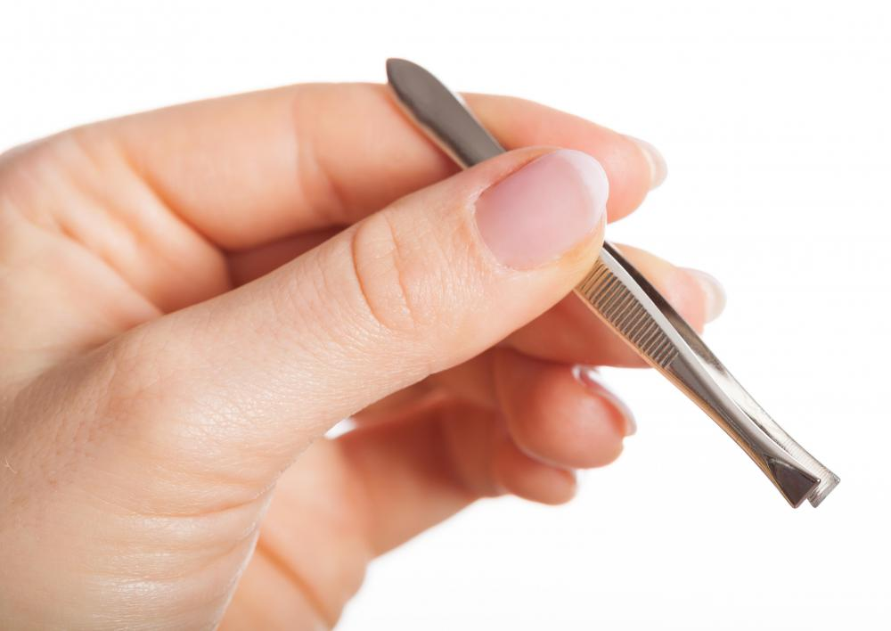 If the wound opening is small, the packing can be gently pushed in with sterile tweezers.
