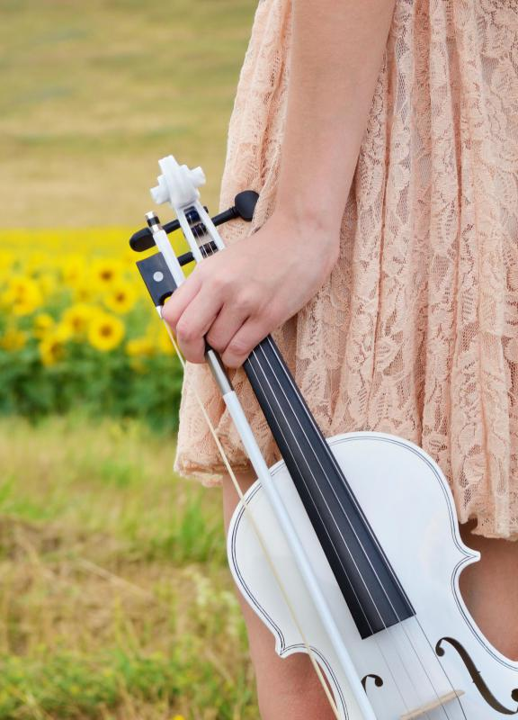 Country music often features a fiddle.