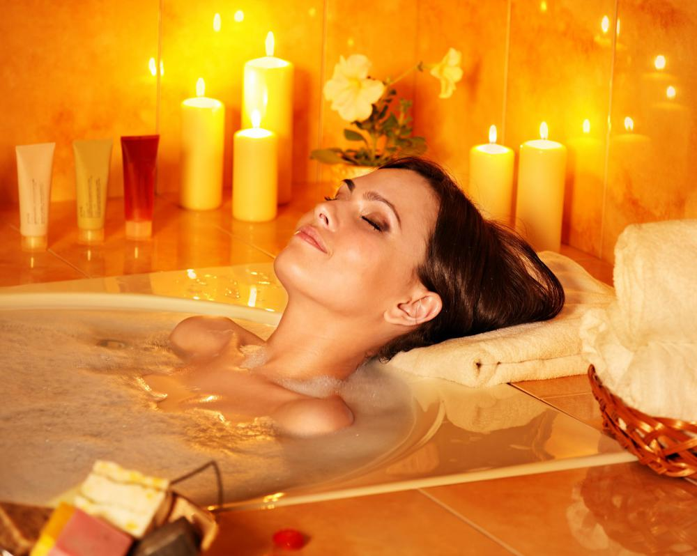Taking a warm bath may help relieve pain associated with causalgia.