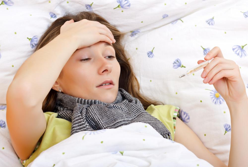 Fever and body aches may be indicative of a cytokine storm.