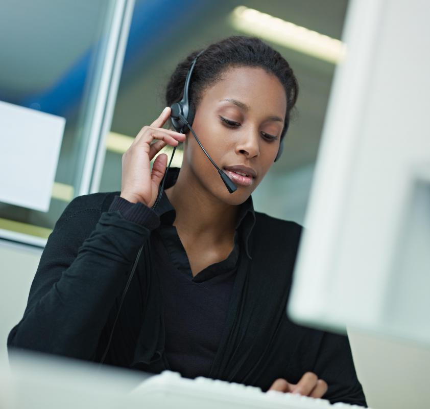 A large company may outsource call center services to handle customer inquiries.