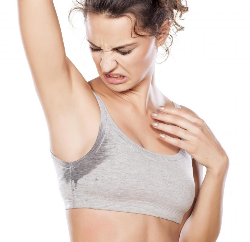 Some people may use products other than deodorant soap to control armpit perspiration.