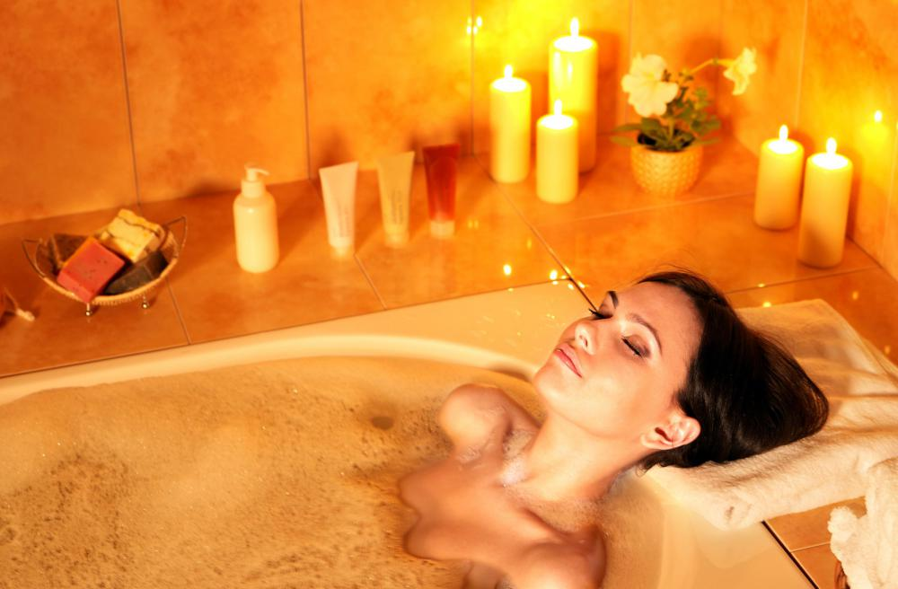 All salts contain minerals that dissolve in the bath when mixed with water.