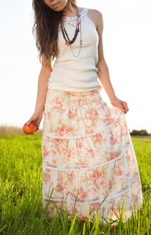 Broomstick skirts are also known as tiered skirts, peasant skirts, gypsy skirts, hippie skirts, Indian skirts and crinkled skirts.