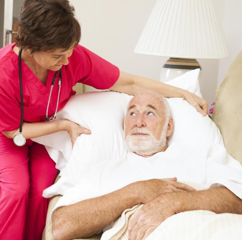 An individual suffering from a serious illness may receive palliative care in the comfort of his or her home.