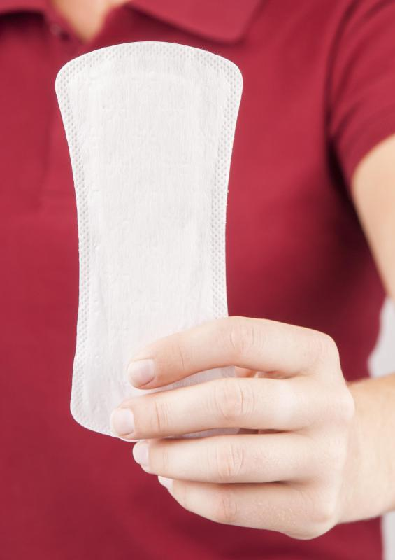The topic of sanitary napkins may come up when describing menstruation.