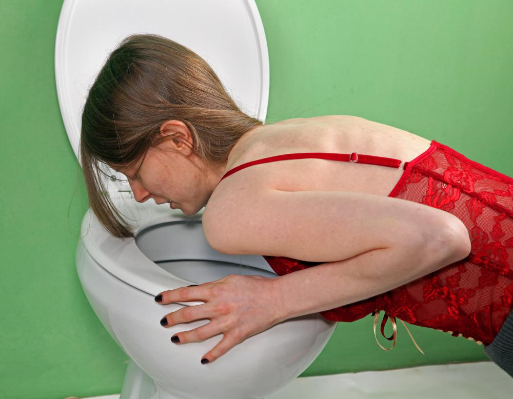 Drinking too much alcohol might cause vomiting.