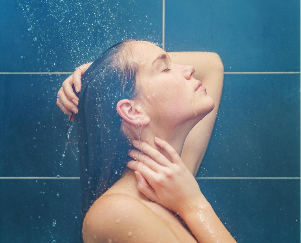 Taking a hot shower with the bathroom door closed can help break up mucus in the lungs.