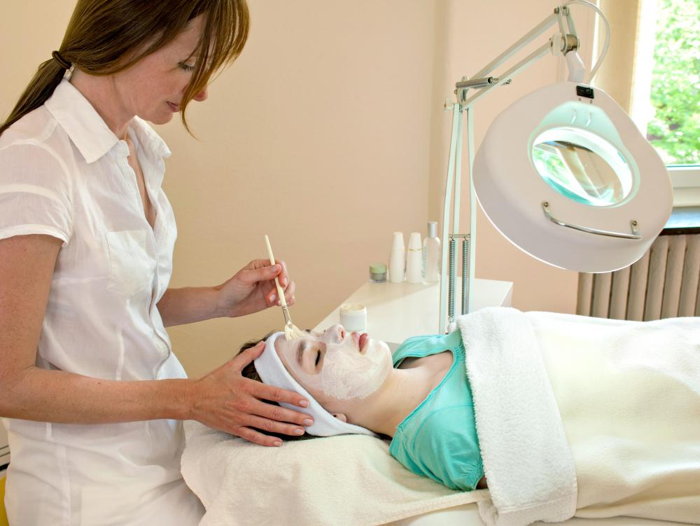 During a chemical peel, a chemical paste is applied to the skin and then removed after a certain period of time.