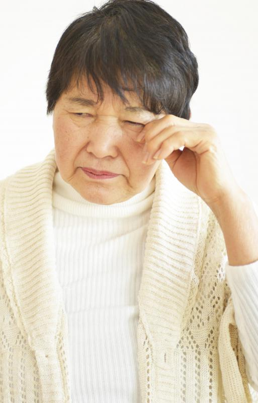 High histamine levels can cause allergy symptoms like watery eyes.
