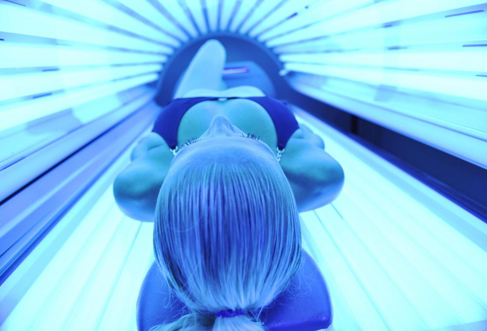 Tanning beds use UV lamps.