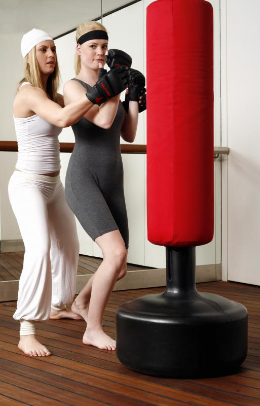 During a self defense class, students will learn how to punch someone safely.