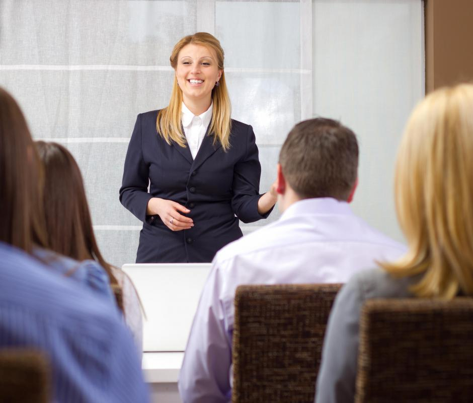 Presentation skills may be gained from auditory learning.